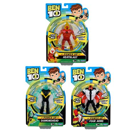 Ben 10 Power Up Deluxe Figure Four Arms deluxe power up figures assorted from ben 10 wwsm
