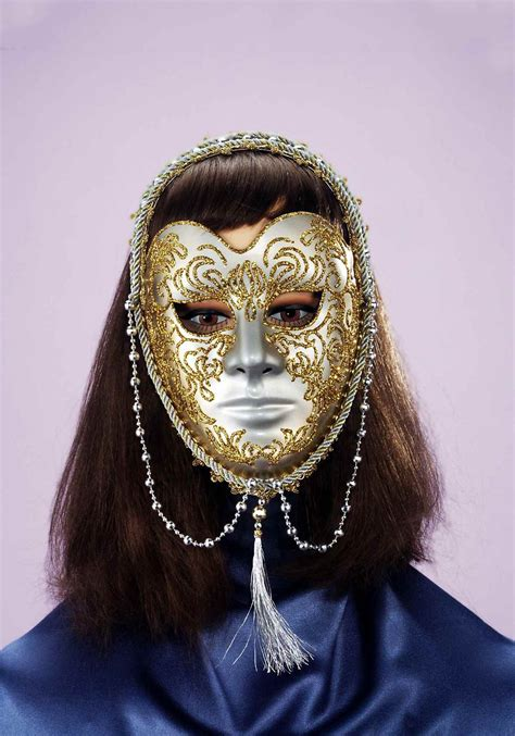 Masker Gold gold and venetian mask