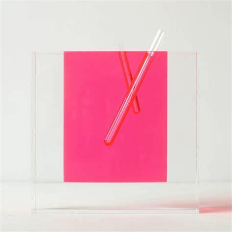 Large Acrylic Vase by Shiro Kuramata Acrylic Pink Vase Large At 1stdibs