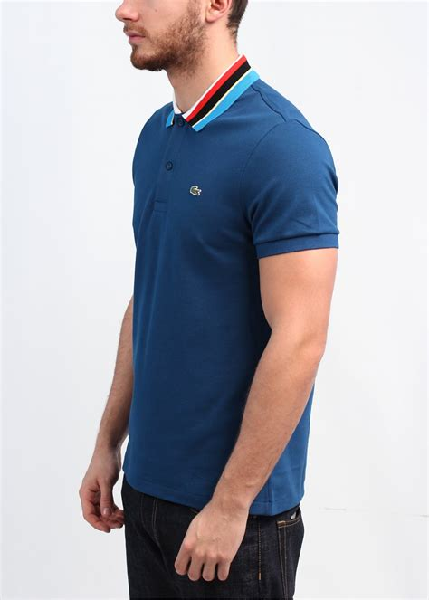 Vans Polo Shirt Kaos Collar Lacoste lacoste stripe collar polo shirt blue
