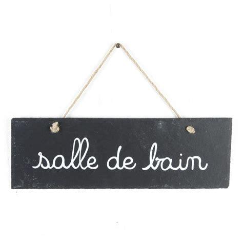 Plaque Salle De Bain by Plaque De Porte Ardoise Quot Salle De Bain Quot Gris