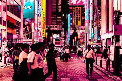 designboom tokyo xavier portela saturates tokyo s sidewalks streets and