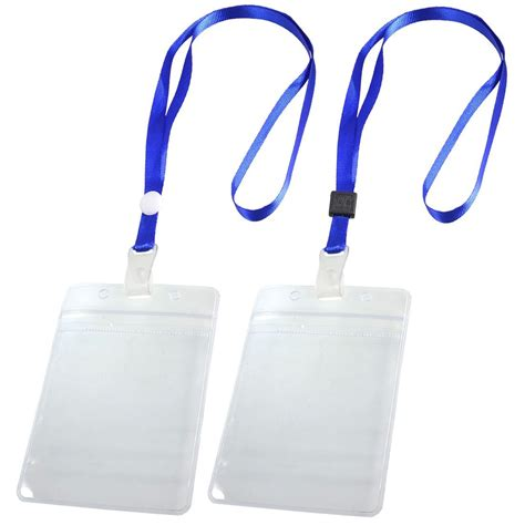 Lanyard Id Card Holder 5 2 pcs id card badge holder adjustable neck lanyard