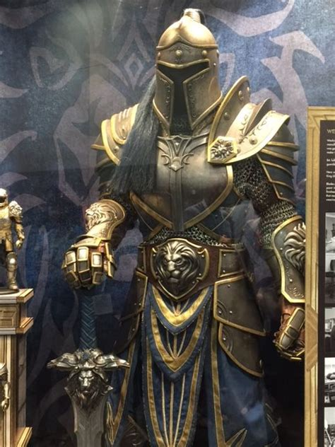 justice a steamy filled bodyguard armor awesome warcraft armor on display at comic con