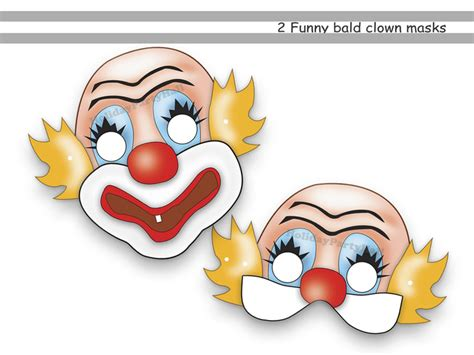 clown mask template unique clown printable masks holidaypartystar