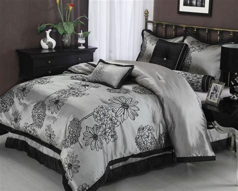 black flower comforter amaysia 7 piece grey black floral comforter bedding
