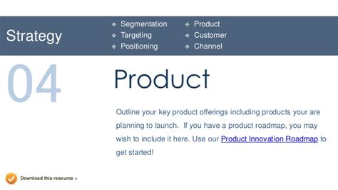 product marketing template marketing plan presentation template