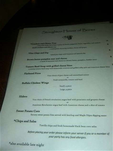 House Of Brews Stoughton Ma by Stoughton House Of Brews Restaurant Reviews Phone