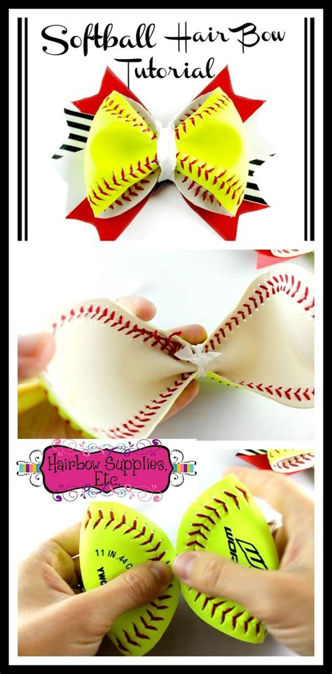 real drum cheerleader tutorial 25 best ideas about softball hair bows on pinterest