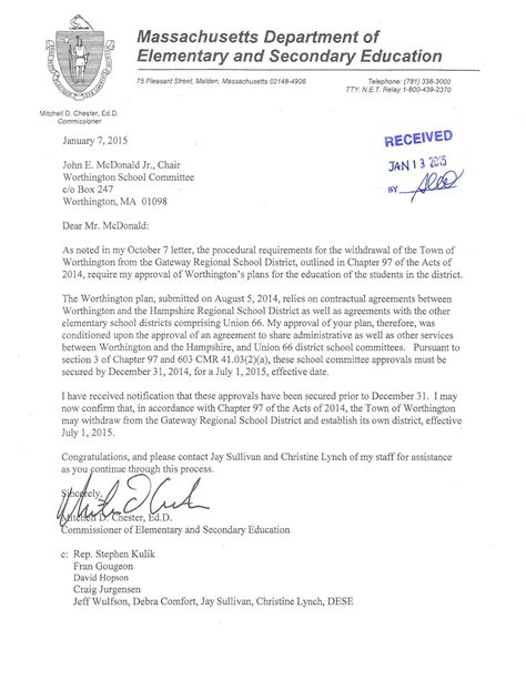 Sle Withdrawal Letter To School Worthington Withdrawal