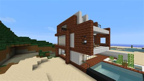 Small Easy To Build House Plans by Small Modern Beach House Schematic Minecraft Project