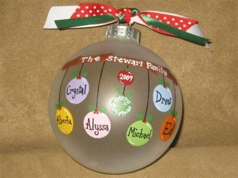 personalized family ornaments glass
