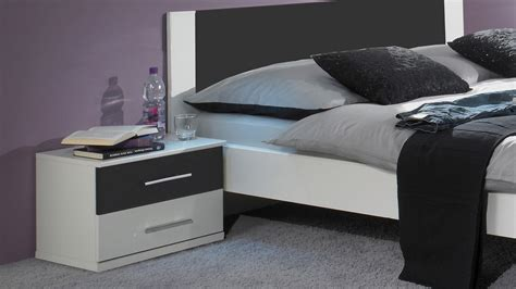 Schlafzimmer Anthrazit by Schlafzimmer Nora In Wei 223 Und Anthrazit Doppelbett