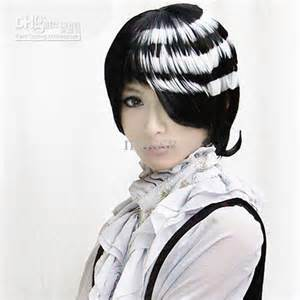 soul line pretwisted hair soul eater death the kid short black white anime cosplay