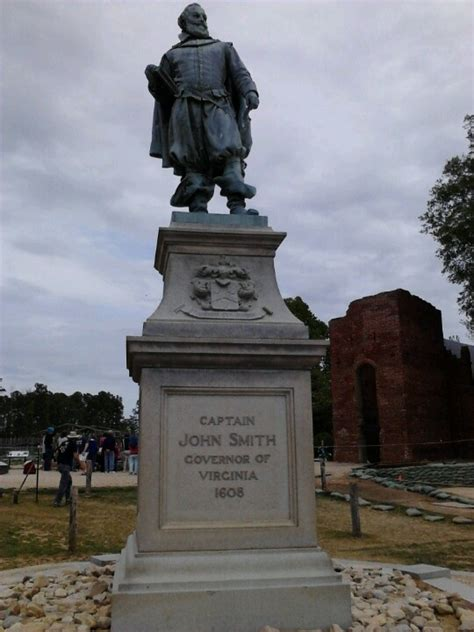 jamestown va john smith statue in jamestown virginia pinterest