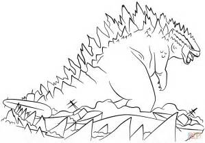 godzilla coloring pages godzilla rises from the sea coloring page free printable