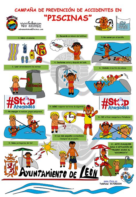 imgenes de prevesion de asidetes ela escuela ca 241 a de prevenci 243 n de accidentes en piscinas leonoticias
