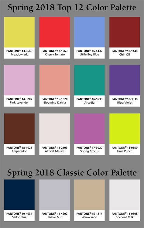 pantone color pallete pantone reveals the 2018 color of the year hm etc