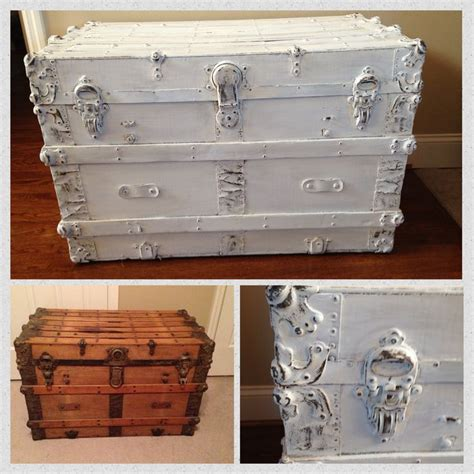 chalk paint techniques for furniture antique trunk painted and distressed using