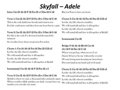 adele skyfall lyrics skyfall adele chords and lyrics by s mcsweeney