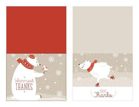 printable christmas thank you paper free christmas thank you card printable with tracker
