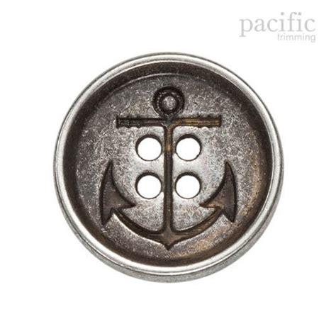 anchor pattern button up metal anchor button 4 holes button 120113mt 1