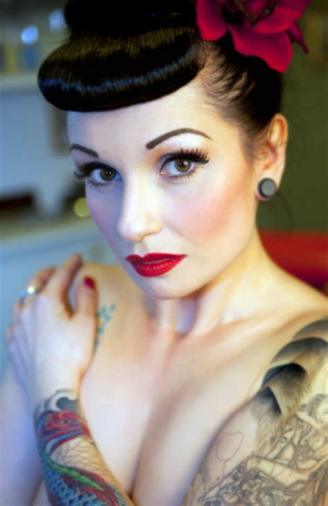 hairstyle pin ups psychobilly bettie bangs and hair