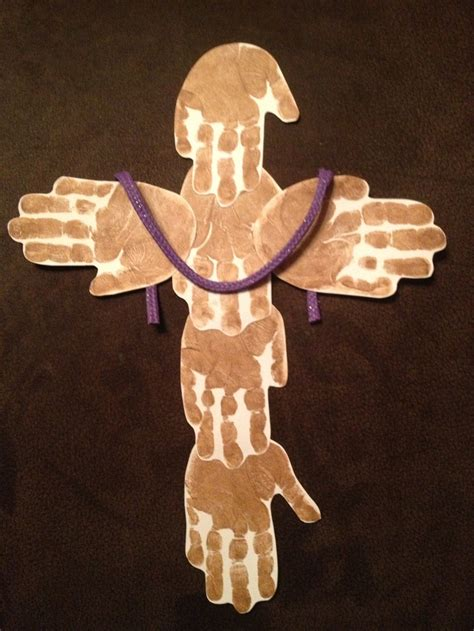 cross crafts for handprint cross easter trees a tree and