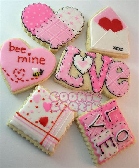 cookies valentines s day cookies the stiching quilt effect