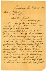 handwritten letters dr