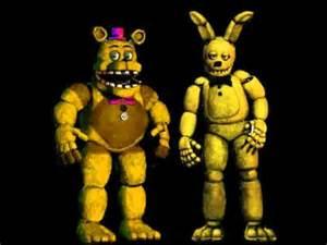 Fredbear and springbonnie sings fnaf song youtube