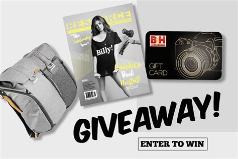 Giveaway Magazine - win a peak design everyday backpack 100 b h gift card subscription to resource