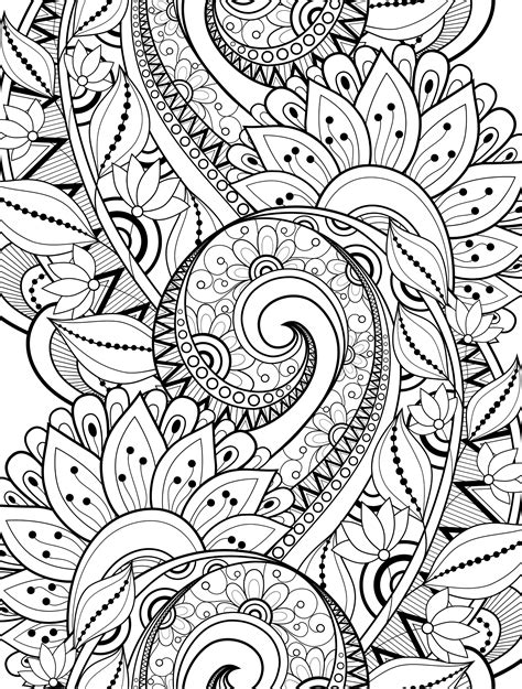 crazy patterns coloring pages 15 crazy busy coloring pages for adults page 6 of 16