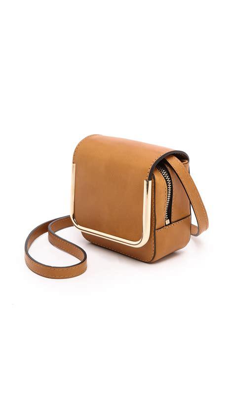 mini bag jims honey carven mini leather bag honey in brown lyst
