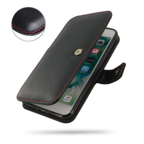 iphone 8 plus leather flip wallet cover stitch pdair book