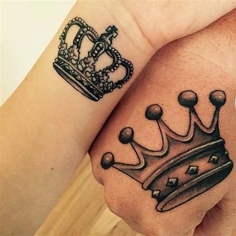 tattoo and queen 40 king and queen tattoos for lovers that kick ass