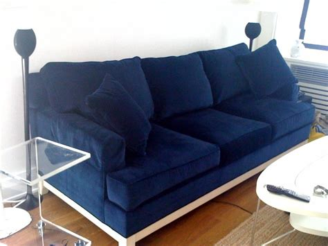 the blue couch sketch42 ensconced in velvet navy blue