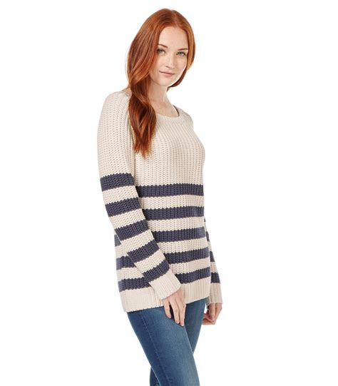 boat neck ladies jumpers woolovers womens linen blend boat neck tripe knit ladies