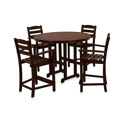 counter height outdoor table polywood 174 la casa 5 outdoor counter height table set