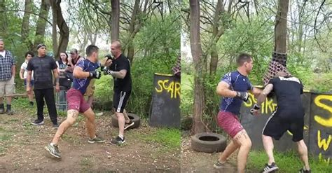 backyard street fights two pro mma fighters handle their differences in backyard