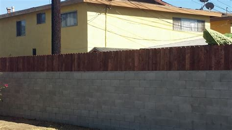 How To Attach Banister To Wall Build A Privacy Fence On Top Of A Block Wall Youtube