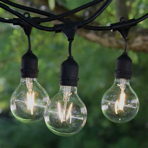 commercial outdoor string lights ideas