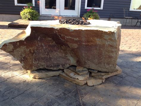 Fire Rock Natural Stone Fire Pit Fire Pit Backyard Rock Firepit