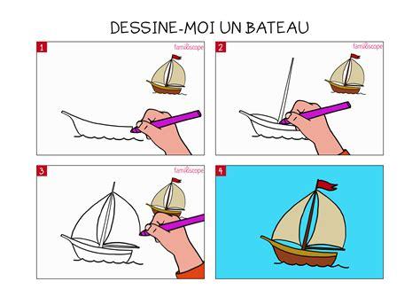 dessin de bateau facile a faire apprendre 224 dessiner un bateau en 3 233 tapes