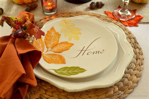 better homes and gardens fall dinnerware fall table featuring items from the better homes