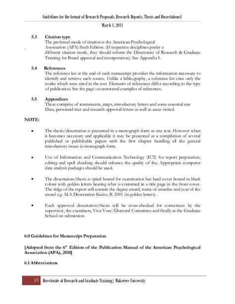 apa dissertation exle apa masters thesis format