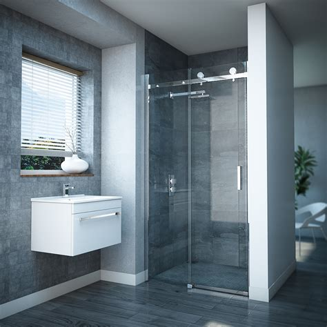 Shower Door Uk Frameless Sliding Shower Door At Plumbing Uk