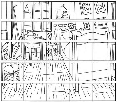 van gogh coloring pages pdf van gogh bedroom mural art projects for kids
