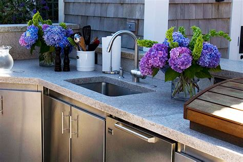 outdoor kitchen sinks outdoor sink guide sinks for your outdoor kitchen