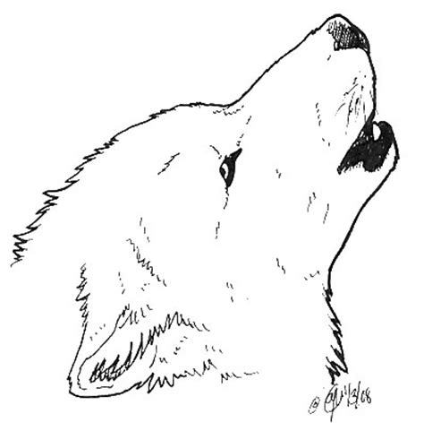 coloring page wolf head sketches of wolves howling at the moon coloring pages